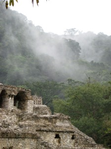 Palenque in the Mist