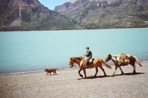 Faustino at Lake O'Higgins