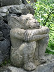 Balinese temple figure