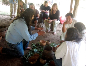 Hopi Harold Joseph sharing traditions in Don Antonio's godhouse