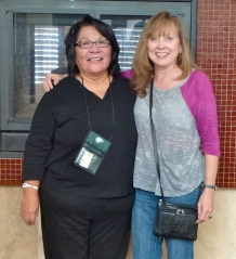 Charlene Joseph and Carla Woody departing for Chiapas, Mexico.