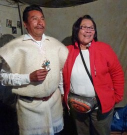 Don Xun Calixto, Spiritual leader of San Juan Chamula, and Charlene Joseph.©2012 Carla Woody.