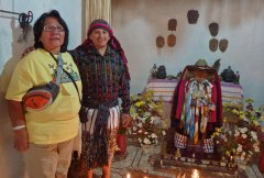 Charlene Joseph and Don Nicholas, who attends San Maximón, in Santiago Atitlán.©2012 Carla Woody.