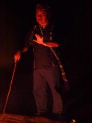 Ajq'ij Felipe Mejia (Maya Daykeeper) at Iximche.©2012 Carla Woody