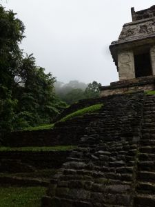 Temple of the Sun at Palenque, Winter Solstice 2012.©2012 Carla Woody.