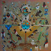 Hopi Ceremonial Calendar by Filmer Kewanyama
